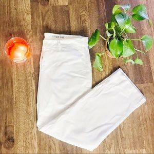 Anthropologie White Chinos